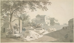 Scene in the town, Jaunpur (U.P.).  7 December 1789.